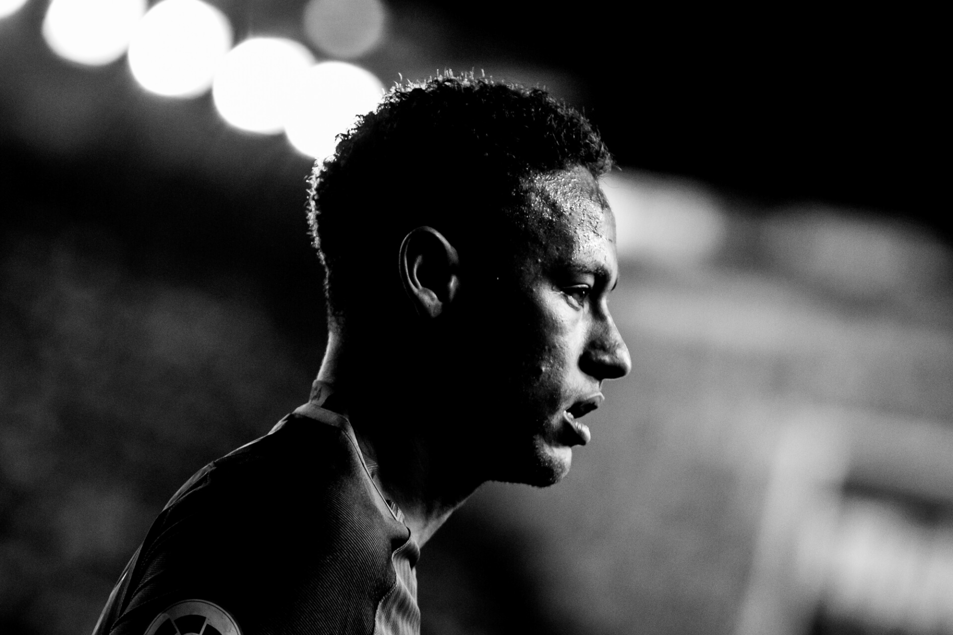 neymar black and white