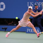 Caroline Wozniacki is done at US Open in New York.