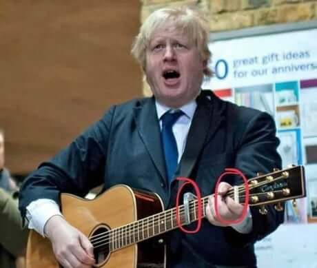 boris johnson guitar
