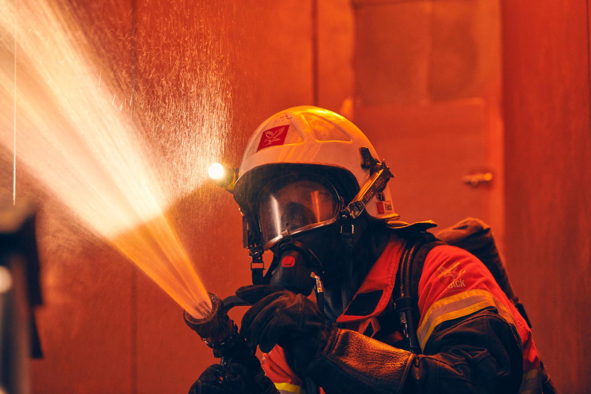 Danske brandmænd til tjeneste