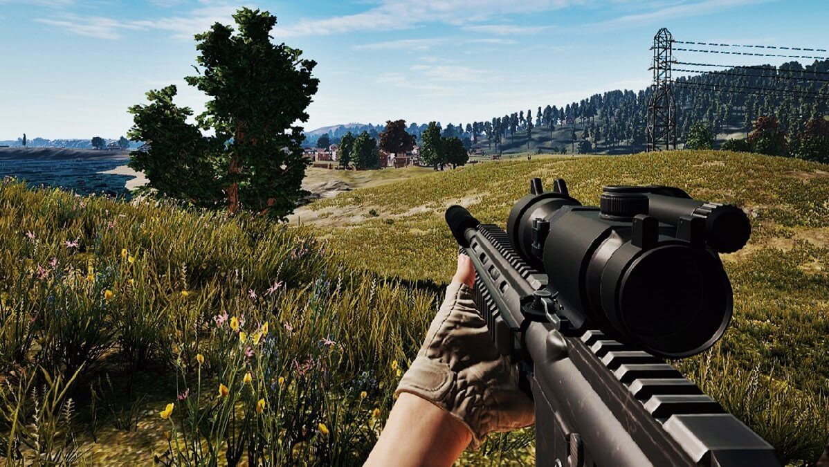 how to change zeroing distance pubg